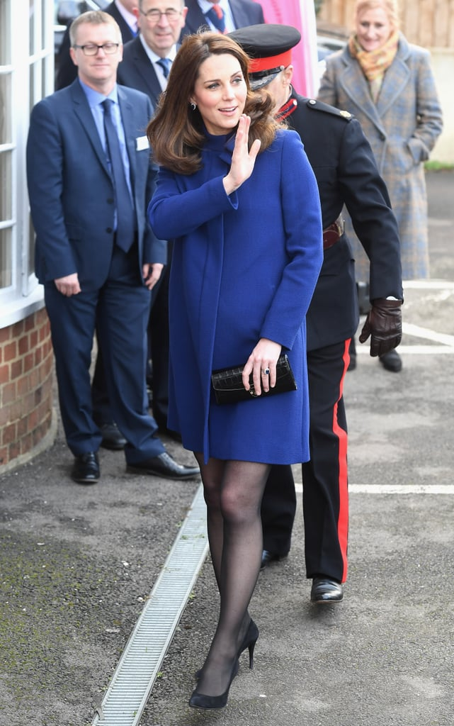 Kate Middleton Blue Goat Coat