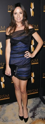 Catt Sadler Wears Black and Blue to PRISM Awards