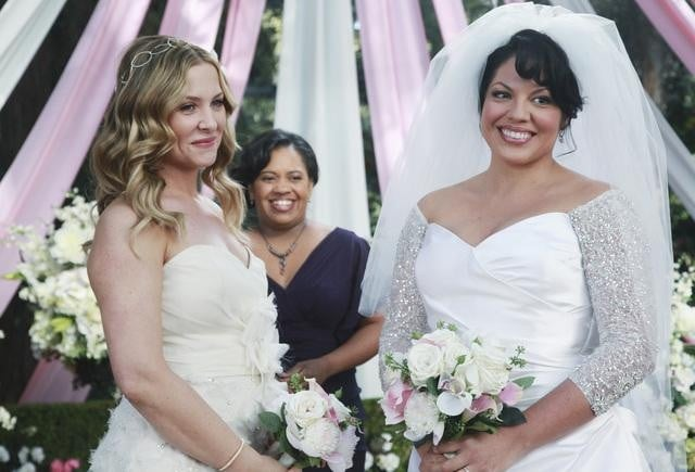 Grey's Anatomy Callie and Arizona Wedding Pictures