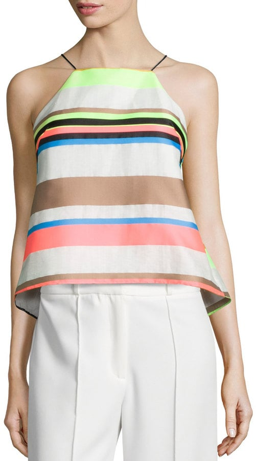 Milly Fluo Multi-Stripe Cami Blouse ($270)