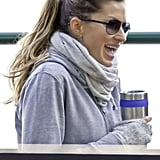 Gisele Bundchen took her coffee to go.