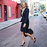 Skirt Suits Should Be Tailored to Hit Above the Knee, Helping to Elongate Your Legs