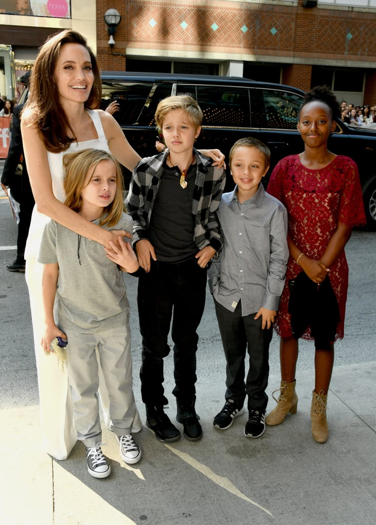September: Angelina Celebrated the Premiere of Her Film With Her Family by Her Side