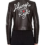 Alice + Olivia Gamma Always Right Embroidered Leather Biker Jacket ($995)