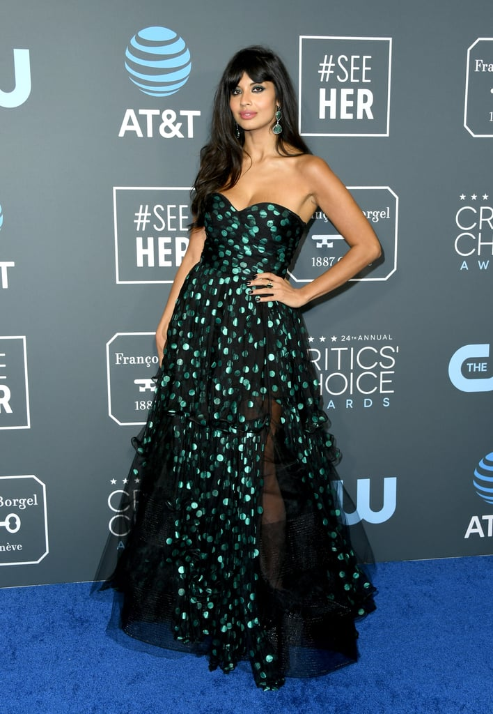Jameela Jamil Boots at the 2019 Critics' Choice Awards