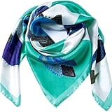 Siladora Green Birds Silk Scarf