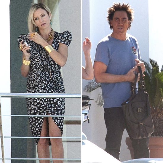 Cameron Diaz Filming The Counselor With Javier Bardem