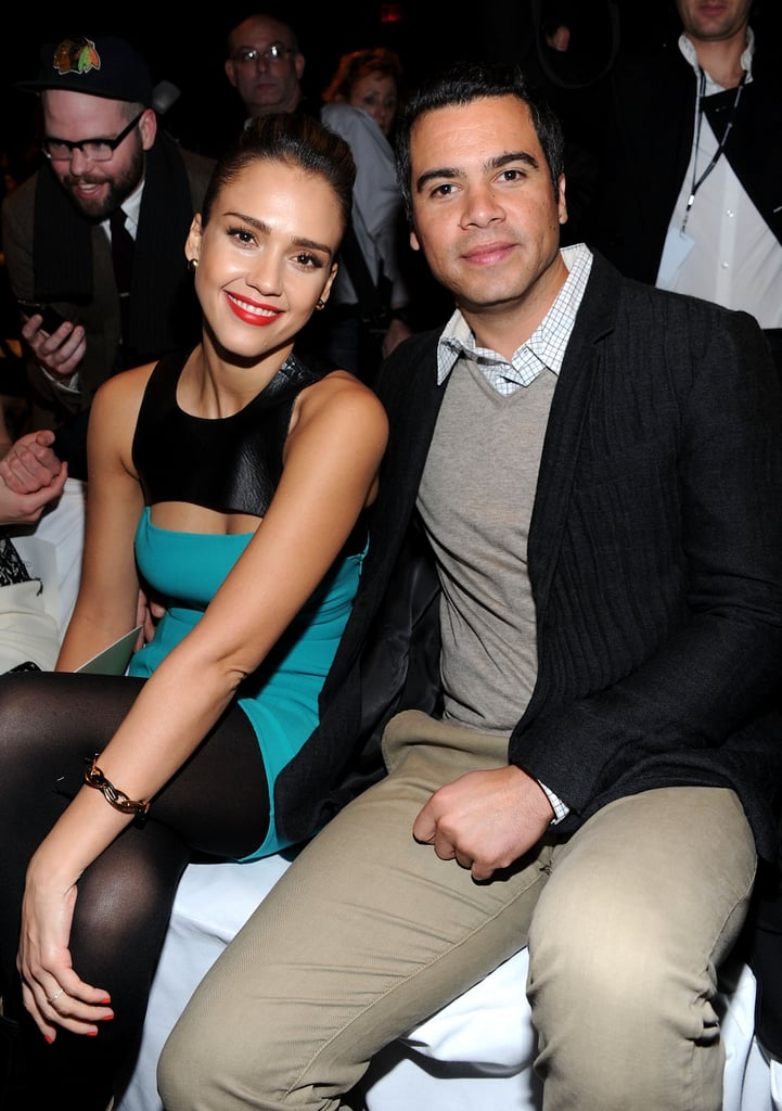 Jessica Alba and Cash Warren at Michael Kors