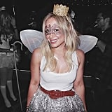 Hilary Duff incorporated wings into her look.