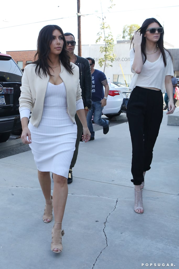 Kim and Kendall Bring Their Sisterly Love to Beverly Hills