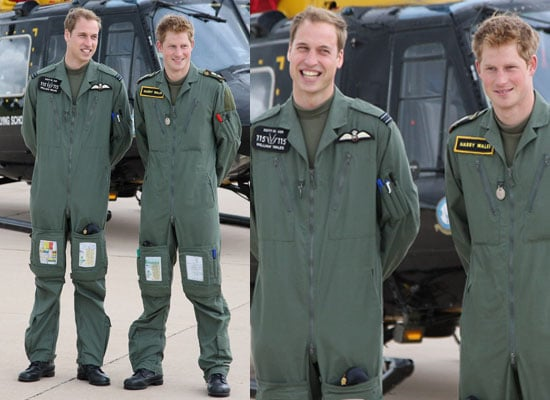 18/6/2009 Wills and Harry in Uniform at RAF Base
