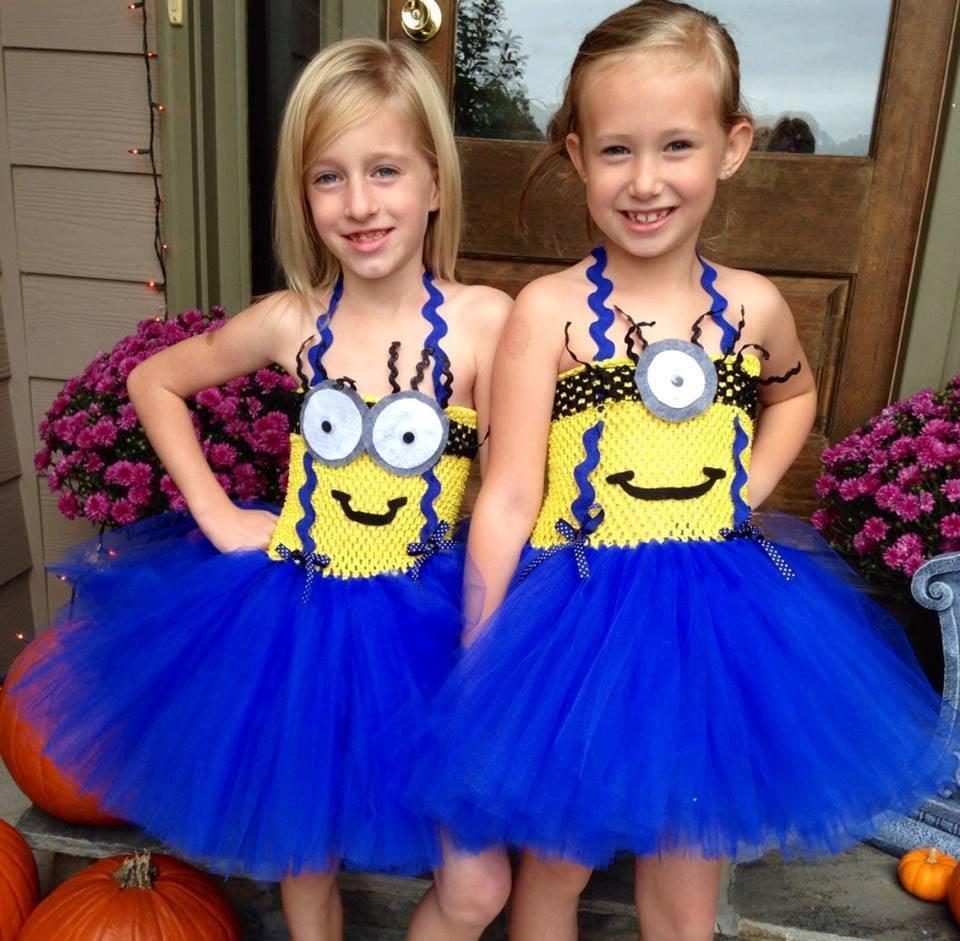 despicable me minion tutu costumes | twin halloween costumes