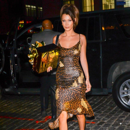 Bella Hadid Leopard Dress at Gigi's Birthday 2018