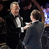 Tom Hanks and Leonardo DiCaprio at the 2020 Oscars