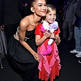 Zendaya and Willow Hart at the 2019 People's Choice Awards