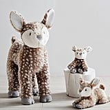 Pottery Barn Kids Small Fur Plush Fawn Sitting