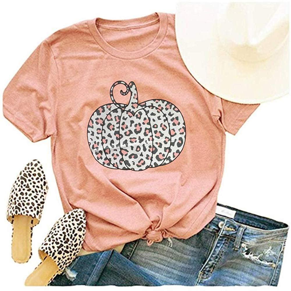 Woffccrd Leopard Pumpkin Printed Shirt