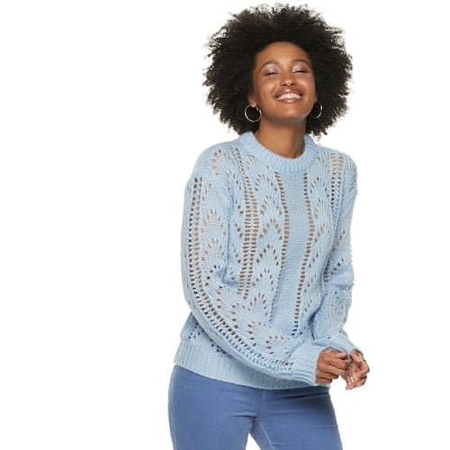 Women's POPSUGAR Pointelle Sweater