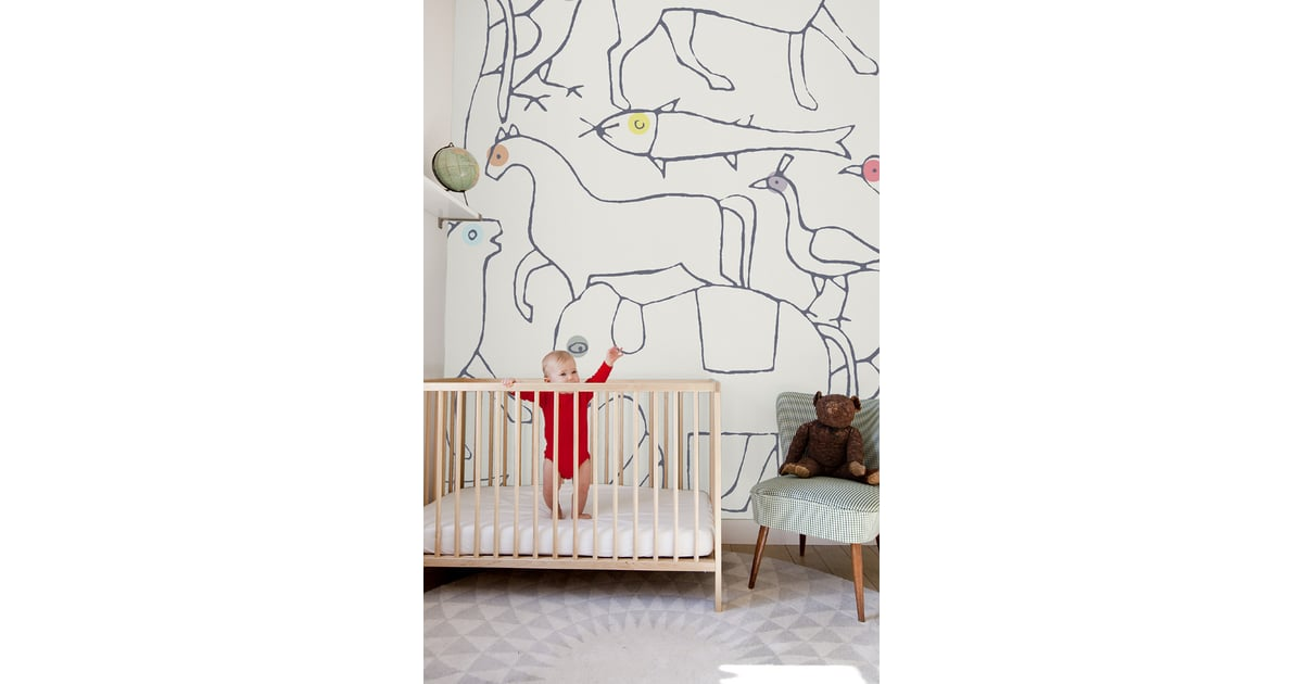 For the Nursery Walls: Minakani Animal Wallpaper | Gwyneth Paltrow's New-Mom Picks | POPSUGAR Family Photo 7