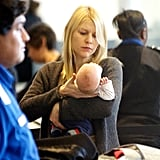 Claire Danes debuted baby Cyrus Dancy at LAX.