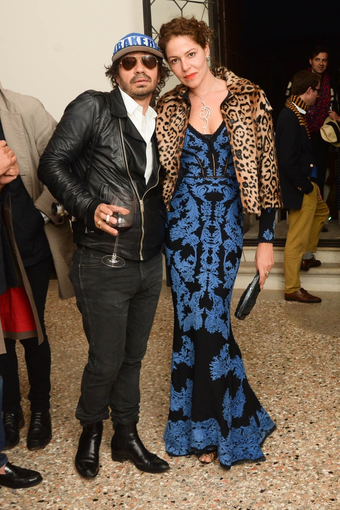 Olivier Zahm and Lola Schnabel at a Purple magazine dinner in Venice, Italy. Source: Joe Schildhorn/BFAnyc.com