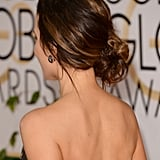 Beckinsale's sideswept chignon will add instant polish to your favorite dress or jeans and a tee.