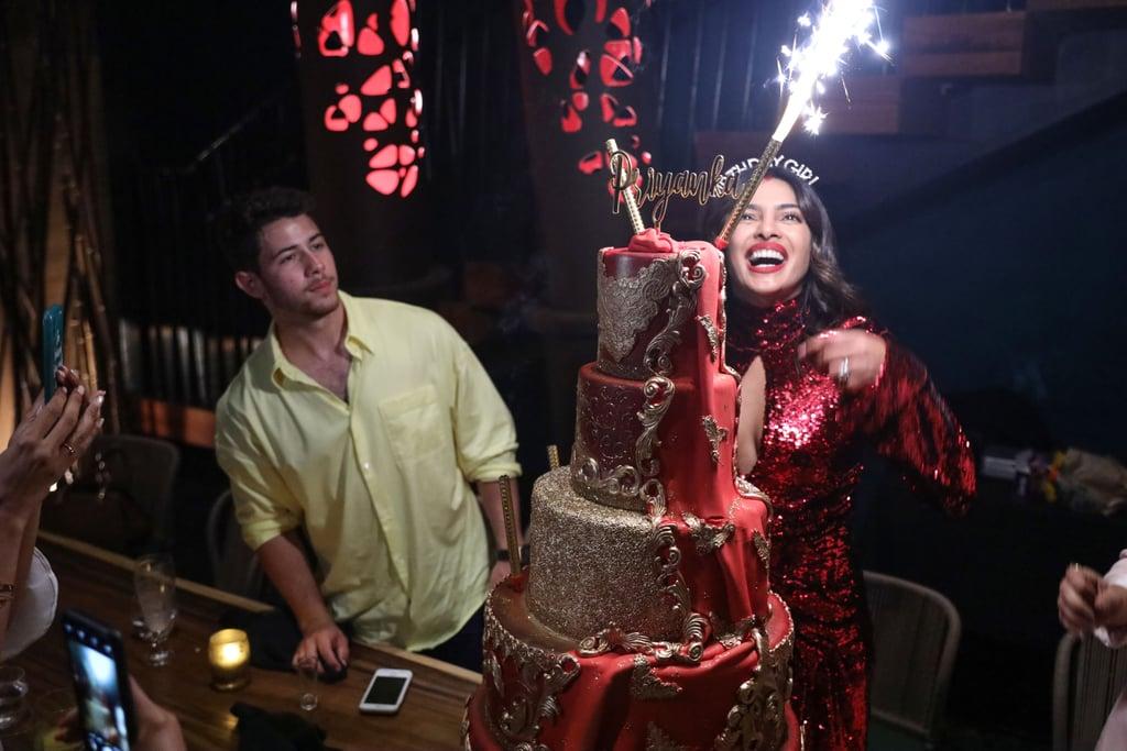 Priyanka Chopra Celebrated Her Birthday With Shots, Cake, and Hubby Nick Jonas