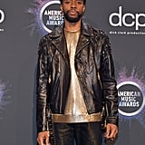 Chadwick Boseman at the 2019 American Music Awards