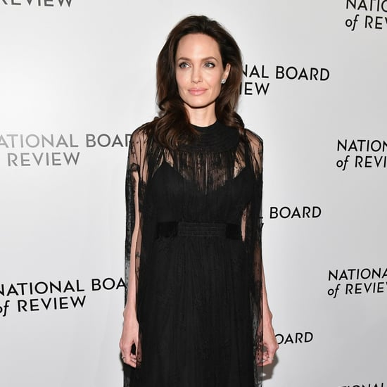 Angelina Jolie's Black Valentino Dress