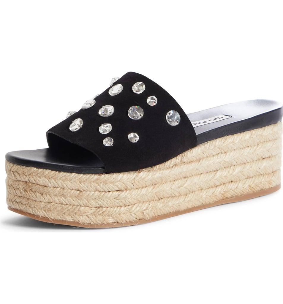 5bce6985f2 Miu Miu Crystal Embellished Platform Slide Sandal | Sandals Trends ...