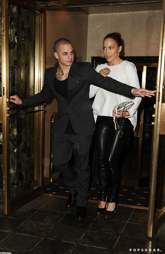 Casper Smart opened the doors for Jennifer Lopez as the couple left dinner in NYC.