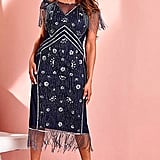 Joanna Hope Fringe Beaded Flapper Dress