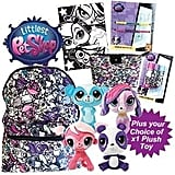 Littlest Pet Shop Showbag ($28) Includes:  Cosmetic purse  Velvet art poster with markers  Choice of littlest pet shop soft toys