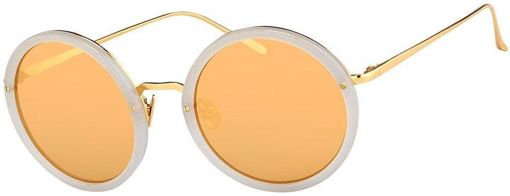 Linda Farrow Trimmed Round Mirrored Sunglasses ($999)