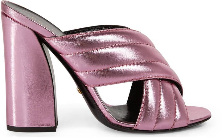 9e232816e9 Gucci Metallic Crossover Sandal ($595) | Metallic Pieces For Spring ...