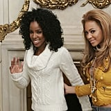 Kelly and Beyoncé were photographed together during a photocall at the Ritz Hotel in Paris.