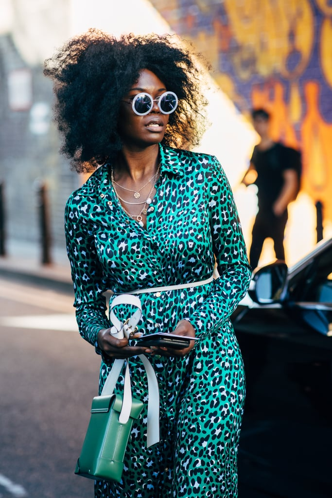 A beautiful printed shirtdress is a no-fuss look that's always eye-catching and pulled together.