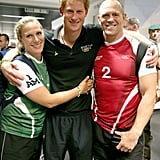 Zara Tindall, Prince Harry, and Mike Tindall