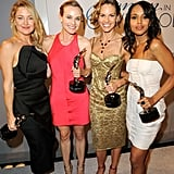 In the winners' circle: Kate, Diane, Hilary, and Kerry.