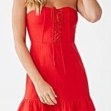 Linen-Blend Tube Dress