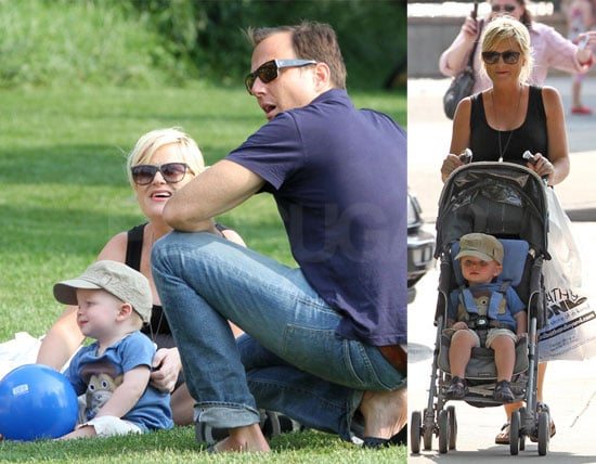 pictures of amy poehler and will arnett with archie 2010
