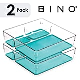 BINO Multi-Purpose 3 Section Plastic Drawer Organizer