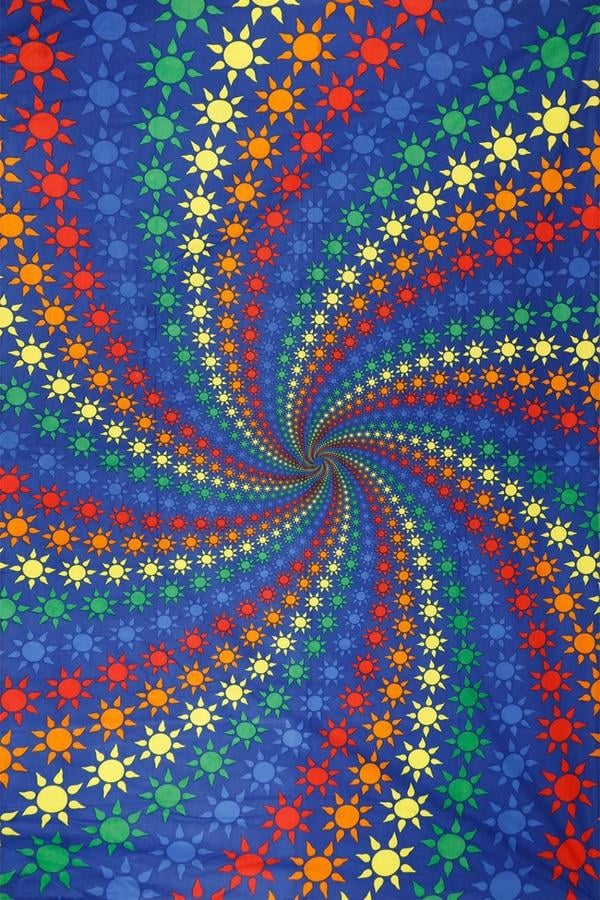 Spiral Rainbow Tapestry ($32)