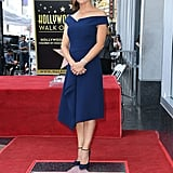 Jennifer Wore a Blue Roland Mouret Dress to Receive Her Star on the Walk of Fame