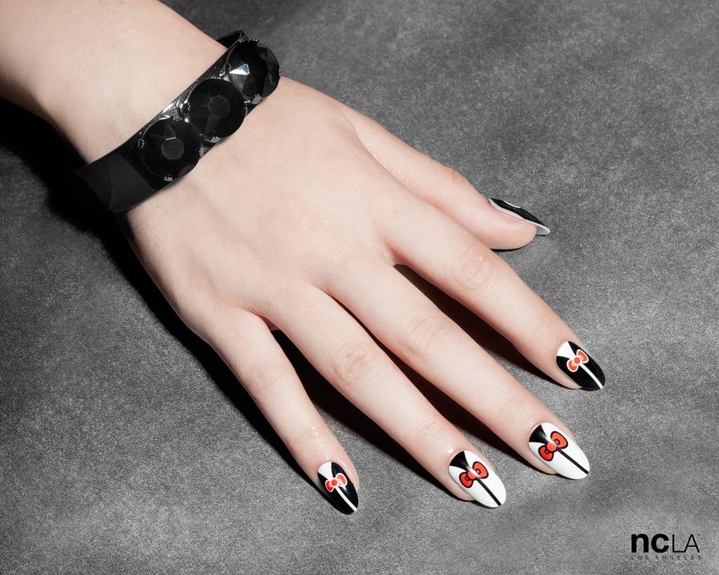 a831ebf8c NCLA x Hello Kitty Nail Wraps in Tuxedo Bows   Hello Kitty Nails ...