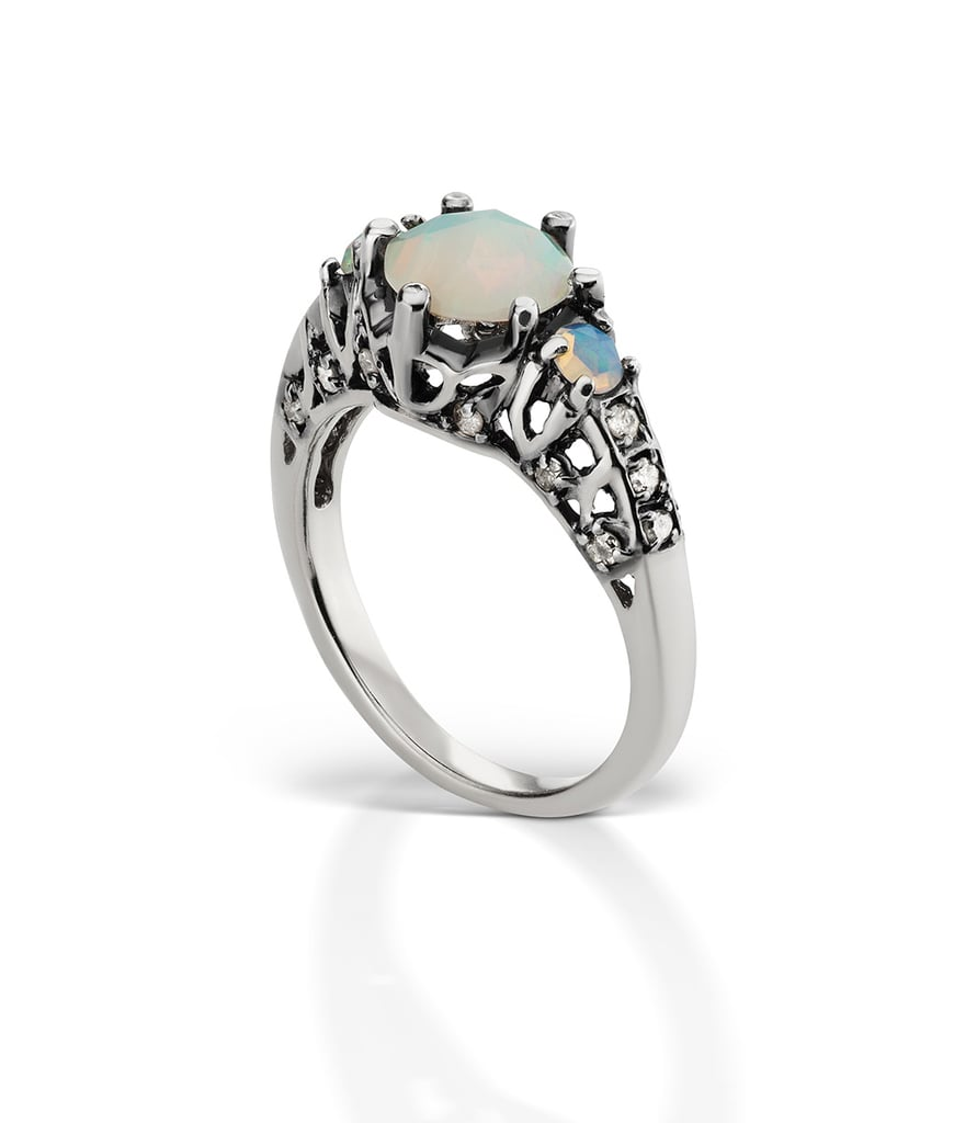 opal and moonstone engagement rings popsugar fashion