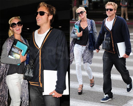 Heidi and Spencer Show Their Love at LAX
