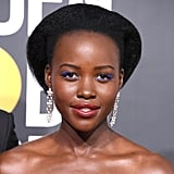 Lupita Nyong'o With Blue Lashes