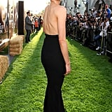 Taylor Schilling showed off her backless dress at The Lucky One premiere in LA.