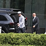 Justin Timberlake returned to his car after making a stop at his talent agency in Century City.